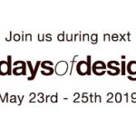 Vabilo k udeležbi na dogodku 3daysofdesign in razstavi slovenskih izdelkov, 23.-25. maj 2019, Kopenhagen, Danska
